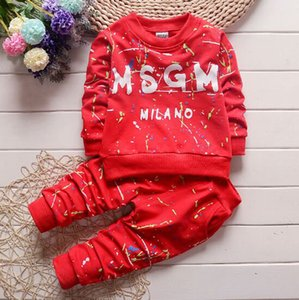 3 colors !Toddler Baby Sets T Shirt+Pants Kids Sportswear Clothes Children clothing autumn babies designer boys girls suits 1-4Years