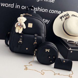 HBP double shoulder female Korean Pu fashion soft skin flower mother and son Bag Travel Backpack student schoolbag in 2021