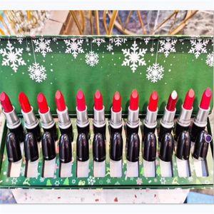 2021 Hot M Trucco di marca Rossetti 12pcs / Set Christmas Snow Lipstick Multi Color in una scatola Box Regalo Rossetto Set 1 Set