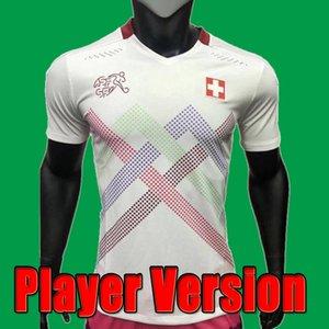 2021 Switzerland Suiza Versión Jugador de fútbol Jerseys 20 21 Shaqiri Seferovic Inmolo Embola Inicio Aficionado a los fanáticos Camisas de fútbol para niños