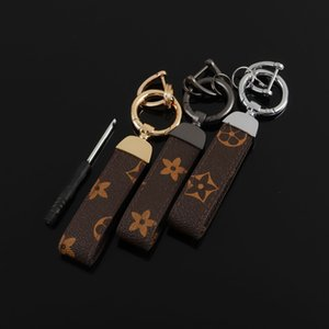 Trendy Creative Old Flower Leather Key Ring for Men and Women High Grade Pu Car Bag Pendant