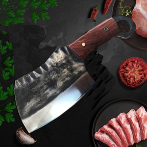 Forged High Manganese Steel Manual Knife Chinese Traditional Cleaver chef Chopping Knife Bone Meat Multi-Purpose Kitchen Knives