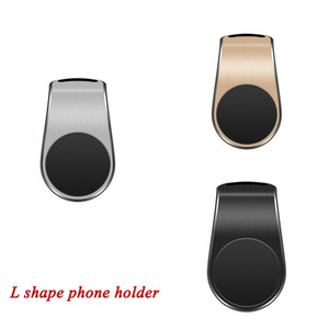 New Design L Shape Magnetic Car Phone Holder Car Air Vent Clip Bracket Stands Universal Cell Phone Accessories Car GPS with Retail Box