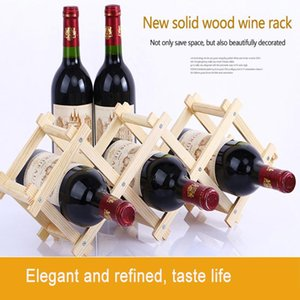 Ice Buckets And Coolers FAKEDA Collapsible Wine Rack Home Decorating Practical Living Room Cabinet Display Solid Wood Production
