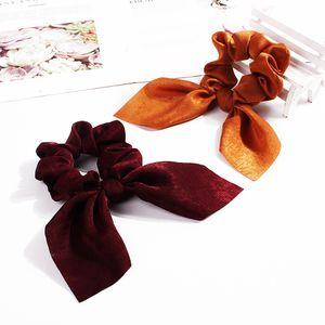 Elastik Saç Bantları Kadınlar Scrunchie At Kuyruğu Tutucu Hairband Yay Düğüm Scrunchy Kızlar Saç Bağları Saç Aksesuarları