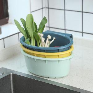 Cocina colgando fregadero fruta y vegetal limpieza almacenamiento cesta multifuncional cocina desagüe cesta de desagüe fruta