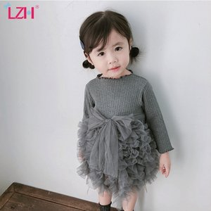 Christmas Dress For Baby Girls Autumn Winter Long Sleeve Knitting Tutu Princess Dress Newborn Infant 1 Year Birthday Party Dress 210317