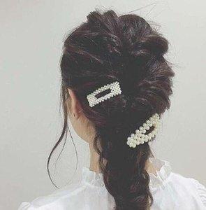 Moda imitazione perla capelli clip per le donne ragazze barrette perla fatta a mano perla capelli accessori per capelli per capelli da sposa regali PS1792