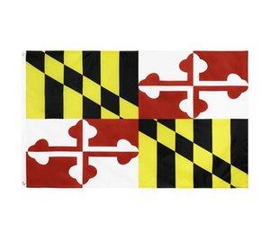 Bandeira do Estado de Maryland Bandeira de Estado 3x5ft Banner 100d 150x90cm Poliéster Bronze Groyside Flag WWA127