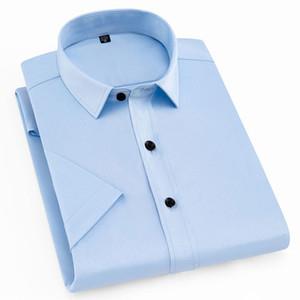 Новое лето 2021 сплошной короткий короткий Mouw дышать удобные формулы Easy-Care Men Smart повседневная рубашка