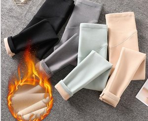 Maternity Bottoms Plus Velvet Pregnant Women Care Belly Thicken Leggings Winter Cashmere Keep Warm Pants Mother Skinny Clothes
