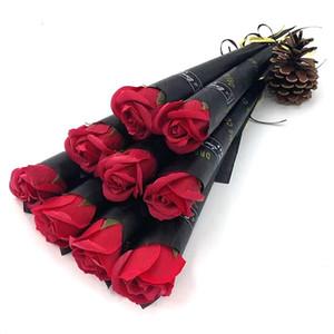 Artificial Rose Carnation Soap Woags Flowers Día de la Madre Regalo para las mujeres Ramos Buquets Centros de boda Partido Flores decorativas