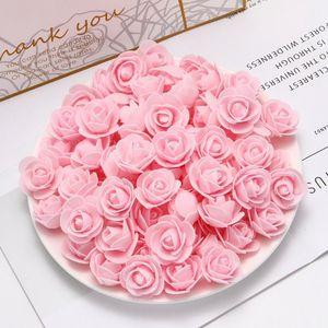 50pcs Cheap Pe Mini Artificial Flowers For Home Wedding Decoration Accessories Fake Foma Bears Scrapbook Diy Wreath Ne jlltYw