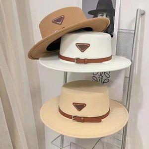 Tasarımcı Cap Kova Şapka Moda Erkekler Kadınlar Göktüsü Üst Şapka Yüksek Kaliteli Saman Güneş Kapaklar Yün Şapka