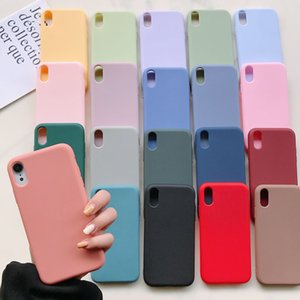 Silicone Phone Case for iPhone 11 12 Pro Max mini Luxury Soft Candy Cover for iPhone iPhone XR XS 7 8 Plus Cases