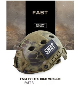 FAST PJ (Round Hole) tactical helmet Real CS field outdoor riding helmet Tactical Helmets ABS+EPP HT006CP