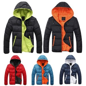 Winter Fashion Plus Size Mens Solid Parkas Streetwear Hood Thick Quilted Jacket Puffer Bubble Coat Men Clothes