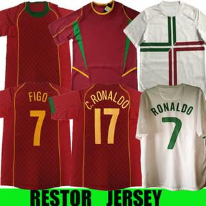 2002 2004 2010 2012 Retro Soccer Jerseys 7#figo 17#C.Ronaldo 10#RUL COSTA 9#PAULETA 18#MANICHE 20#DECO 17#NANI Football Shirt