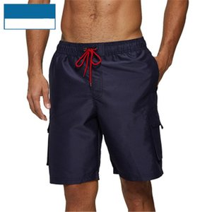 Mens Solid Colors Beach Shorts Clothing Fashion Trend Breathable Drawstring Shorts Swimwear Summer Male Waterproof Sports Casual Short Pants