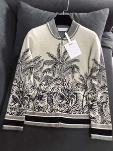 2021 WomenS Sweaters luxury Casual Knit Long Sleeve Cardigan Pullover Autumn Fashion Wear Classic Pattern Lady Tops Knitwear Ladies Sweater
