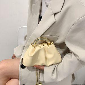 Girls Handbags Kids Bags Children Accessories Summer One-Shoulder Fashion Pleated Women Purses Chain Leather Messenger Bag Handbag 3223 Q2