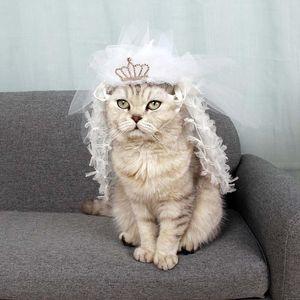 Elegante cat Dress da sposa Abito da sposa Pet Mantello Trasfigurazione Crossdresser Costume Leggero Confortevole Partito festivo senza priorità bassa Cute Co