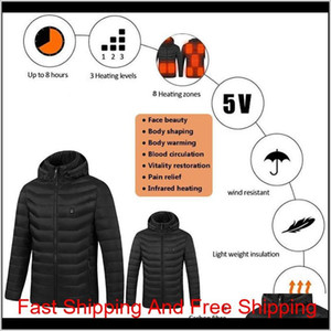 2021 Upgrade 8 Heating Zones Mens Women Heated Outdoor Vest Usb Electric Heated Hooded Long Sleeves Jacket Th qylFVZ hjfeeling