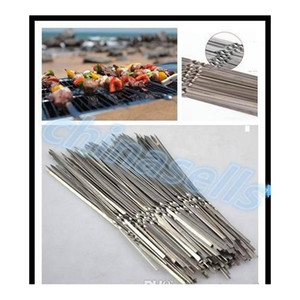 Portable Picnic Bbq Barbeque Needle 35cm Camping Stainless Steel Grilling Party Kabob Kebab Flat jllGrk outbag2007