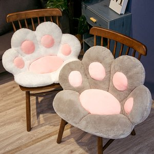 Cushion Office Seat Cute Bear Paw Half SurroundedCushion Lazy One Sofa Cat Claw Student Cushion Handmade Korean 1pcs Patchwork