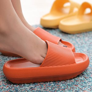 Fat Platform Women Slippers Summer Fashion Eva Soft Sole Beach Slide Sandals Men Pair Indoor Bathroom Anti-slip Shoes Home