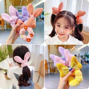 Acessórios de cabelo HiGood E. Faixas de orelha de pelúcia Bowknot Qiu Dong Girls Pneus Flower Flower Touque macio do bebê fofo