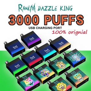 100% Authentic RandM DAZZLE KING 3000 Puffs Electronic Cigarettes Disposable vape