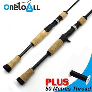 OneToall Baitcasting Rod Composite Cork Спиннинг Рыбалка Ручка Сплит Ручка Рукоятки Строительные компоненты для DIY или Ремонт