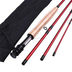 SOUGAYILANG 2.7m 4 secciones Caña de pescar con fibra de carbono 8.86 pies # 5 Rod de pescar Acción rápida Spinning Pesca