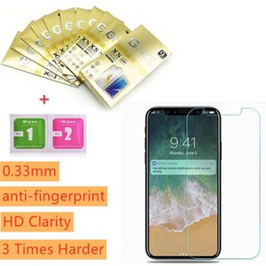 Tempered Glass for iPhone SE 2020 Samsung A30 A70 A50 Huawei P40 Screen Protector 0.33MM Protector Film Individual Package