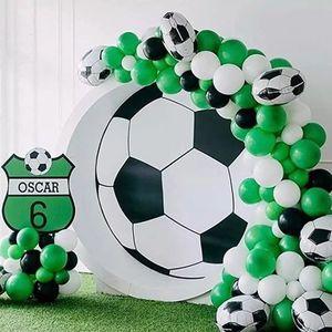 109pcs Soccer Party Balloon Garland Kit Black Green White Balloons Football Party Decoration Kids Boy Birthday Party Toys