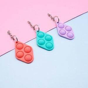 Cute Toy Educational Bubble Simple Dimple Push Pop Fidget Popper Silicone Decompression Keychains Sensory Infant Interest Toys 1 7mq R2