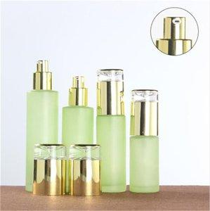 Bouteille de bouteille de verre de verre cosmétique givrée de verre cosmétique avec capuchon en plastique Bouteille de pulvérisation de pulvérisation de pulvérisation vides 20ml 30 ml 60ml 80 ml 100 ml 120 ml