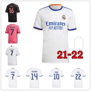 ريال مدريد لكرة القدم الفانيلة 21 22 البنزيما حارس المرمى الخاص مرمى طويلة الأكمام راموس ايسكو 2021 2022 camiseta لكرة القدم قمصان الرجال الاطفال كيت لاعب نسخة