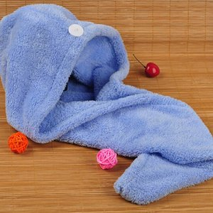 Magic Quick Dry Hair Shower Caps Microfiber Towel Drying Turban Wrap Hat Caps Spa Bathing free shipping