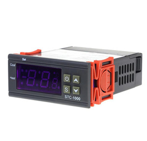 2021 LED Digital Temperature Controller STC-1000 12V 12V 24V 220V Thermostat Thermostat and Heater Cooler Control
