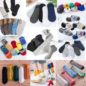 boxed night market men's and women's boat breathable Cotton socks
