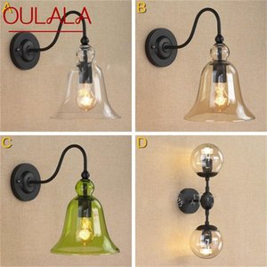 Wall Lamps OULALA Retro Light Sconces Classical Creative Loft Fixtures Decorative For Home Living Room