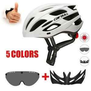 Ultralight Helmets Bicycle With Removable Visor, Bike Goggles, Tail Light, Helmet Mtb Man, MTB Road Bike Cycling helmets