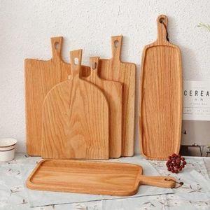 Kare Ahşap Mutfak Doğrama Blok Ev Kesme Tahtası Kek Suşi Plaka Servis Tepsileri Ekmek Çanak Meyve Tabağı Biftek Tepsi GYQ