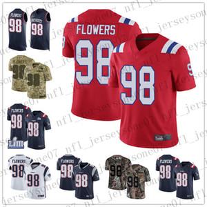 Mujeres personalizadas para hombres jóvenes Nueva Inglaterrapatriotas98 Trey Flowers 87 Rob Gronkowski Navy Blue Black Red Football Limited Rush Jersey
