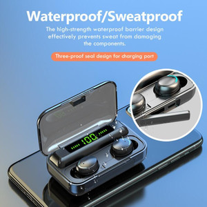 TWS Bluetooth 5.0 Sports Gaming Wireless Earbuds 2000mAh Charging Case Headphone with LED Display Stereo Built-in Mic for Iphone 12 11 Samsung S30 S21 S10