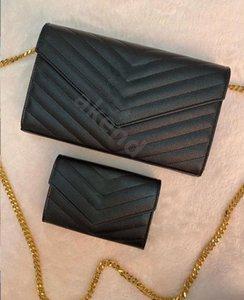 Sac à bandoulière pour femmes de la chaîne en cuir véritable Chaîne pour femmes Loulou luxe Designer Bandbody sacs sacs à main portefeuille sac à main sac à main Caviar Lambskin Embrayage Fashion