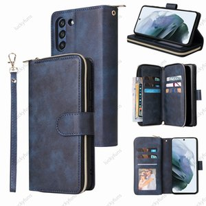 Wallet PU leather zipper bag phone Cases with card slot Photo frame stand for Samsung Galaxy A32 A22 A12 A21 A21S A20E A20 A82 A72 A52 A42 A71 A51 A11 A01 A02S 5G case cover