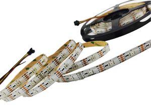 DC5V SK9822 RGB LED Strip (Similar APA102) Reloj de datos rápidos 36/48 LEDs / Pixels / M Individual Dirigible IP30 / 65/67 PCB blanco
